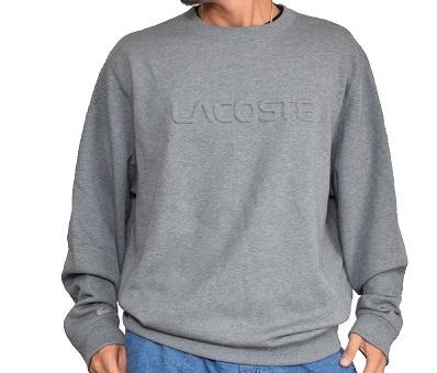 ラコステ LACOSTE エンボス加工 スウェットシャツ トレーナー