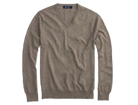 ジェイクルー セーター メンズ J.CREW Vネックセーター ライトブラウン D20S30