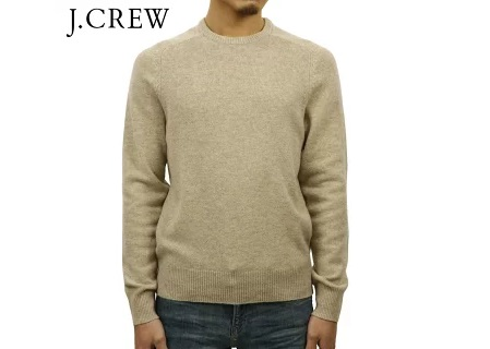 ジェイクルー セーター メンズ J.CREW LAMBSWOOL CREWNECK SWEATER BE