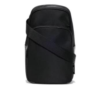 バリー BALLY メンズ ブラック ナイロン/カーフレザー スリングバッグ THOMA 633