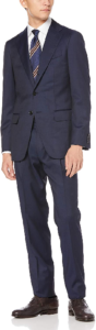 1.LORO PIANA RAIN SYSTEM ピンヘッド3B スーツ メンズ