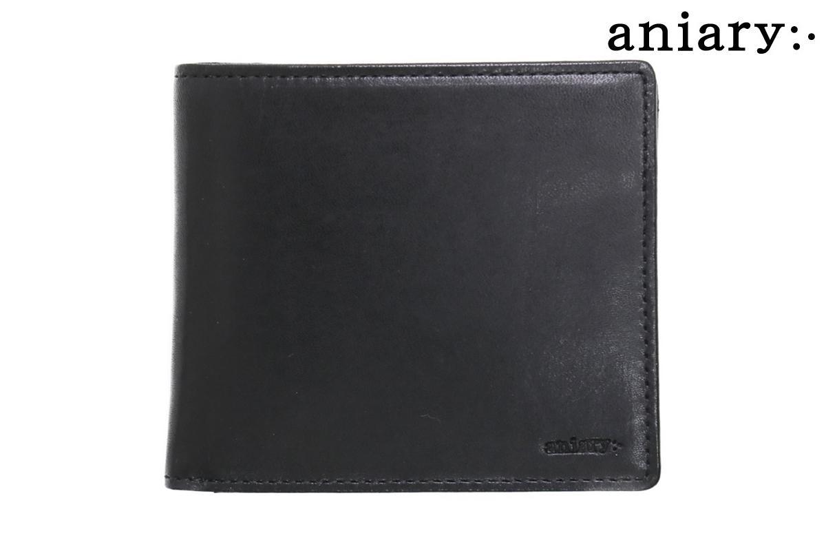 アニアリ アンティークレザー二つ折り財布