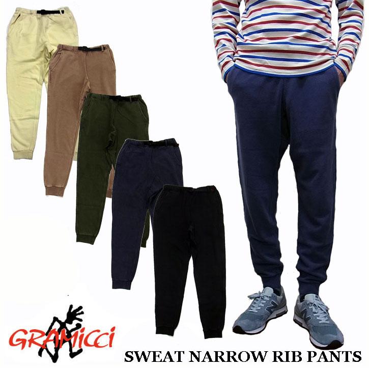 GRAMICCI SWEAT NARROW RIB PANTS GUP-16F031