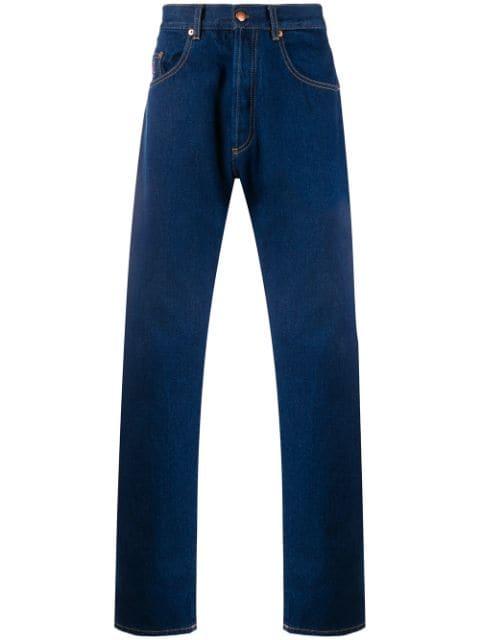 アリーズ ジーンズ デニム ストレート メンズ【Aries Batten straight-leg jeans】Blue