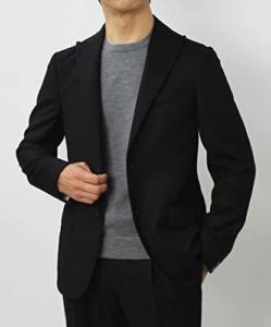 2.THE GIGI DEGAS 2 ウール カシミヤ混サキソニー ピークドラペル ワンプリーツ スーツ