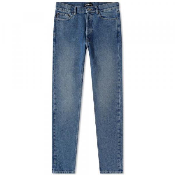 バレンシアガ ジーンズ パンツ デニム メンズ【Balenciaga Narrow Leg Denim Jean】Double Stonewashed I