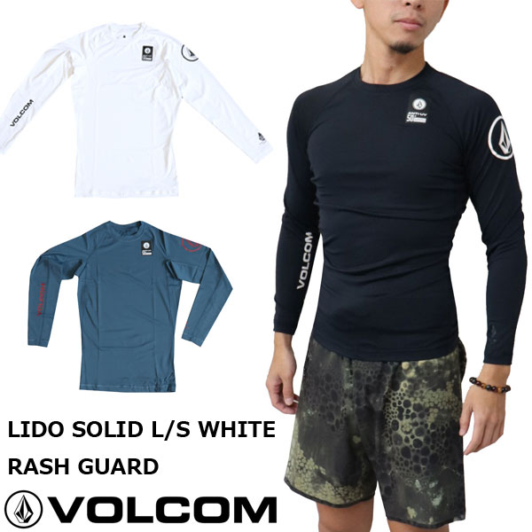VOLCOM/ボルコム メンズ LIDO SOLID L/S RASH GUARD