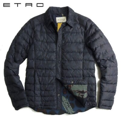 ETRO エトロ 同色系ペイズリー柄 ダウンジャケット