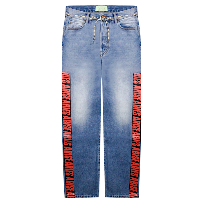 ARIES (アリーズ アリエス) LILLY RED TAPE JEAN LIGHT DENIM (PALE BLUE)