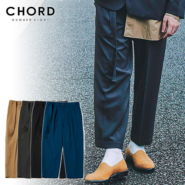 コードナンバーエイト TWO TUCK WIDE PANTS chordnumbereight 【cha1-02l1-pl05】