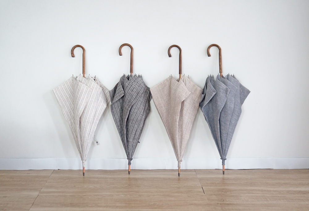 小宮商店 ナチュラルリネン 男性用日傘