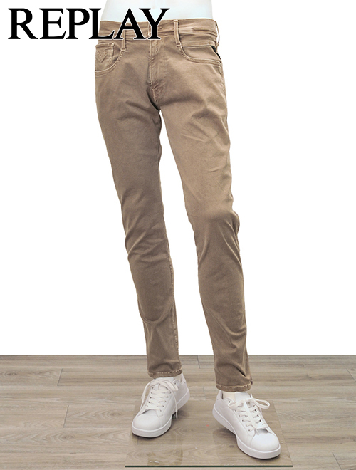 REPLAY Hyperflex リプレイ ANBASS メンズデニム カラーエディションジーンズ