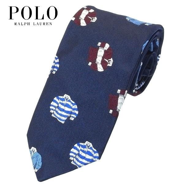 POLO RALPH LAUREN ネクタイ 小紋柄 ラガーシャツ柄