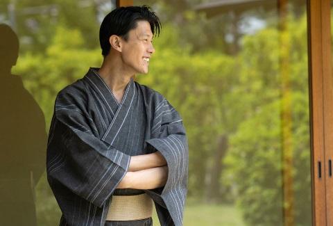 浴衣 メンズ セット 【男着物専門店品質】 近江ちぢみ男性浴衣5点フルセット