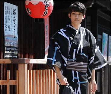 日本製 SOU・SOU 浴衣 メンズ セット 男物高級綿麻浴衣3点セット