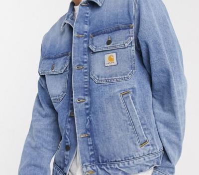 カーハート デニムジャケット メンズ Carhartt WIP Stetson denim jacket in washed blue エイソス