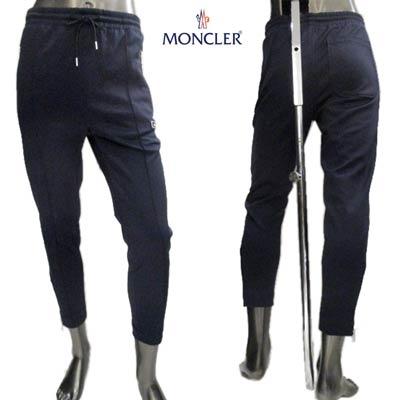 MONCLER ジョガーパンツ ポケット部分ラバーロゴ・ジップロゴ刻印入りトラックパンツ ネイビー 2A70700 C8034 778 (R69300) 02S