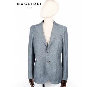 ボリオリ 2B シングルテーラード ジャケット ネイビー 220-31706 イタリア製 シルク 麻