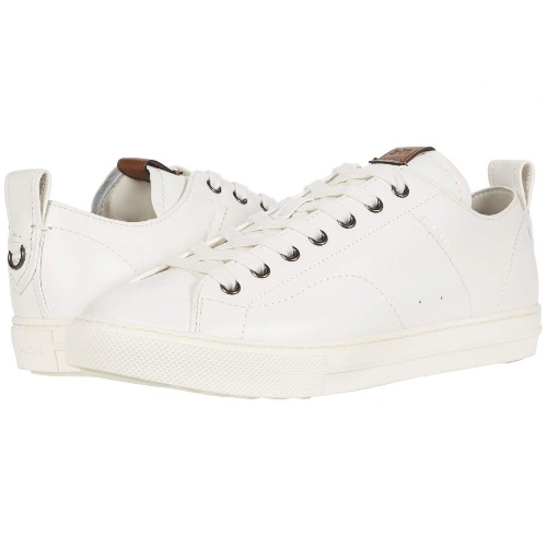 COACH メンズ スニーカー 【C121 Leather Low Top Sneaker】White Leather