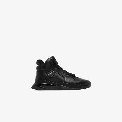 Balmain  black B-Ball leather sneakers