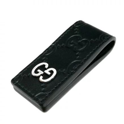 GUCCI マネークリップ グッチシグネチャー レザー ブラック 522867 CWC1N 1000