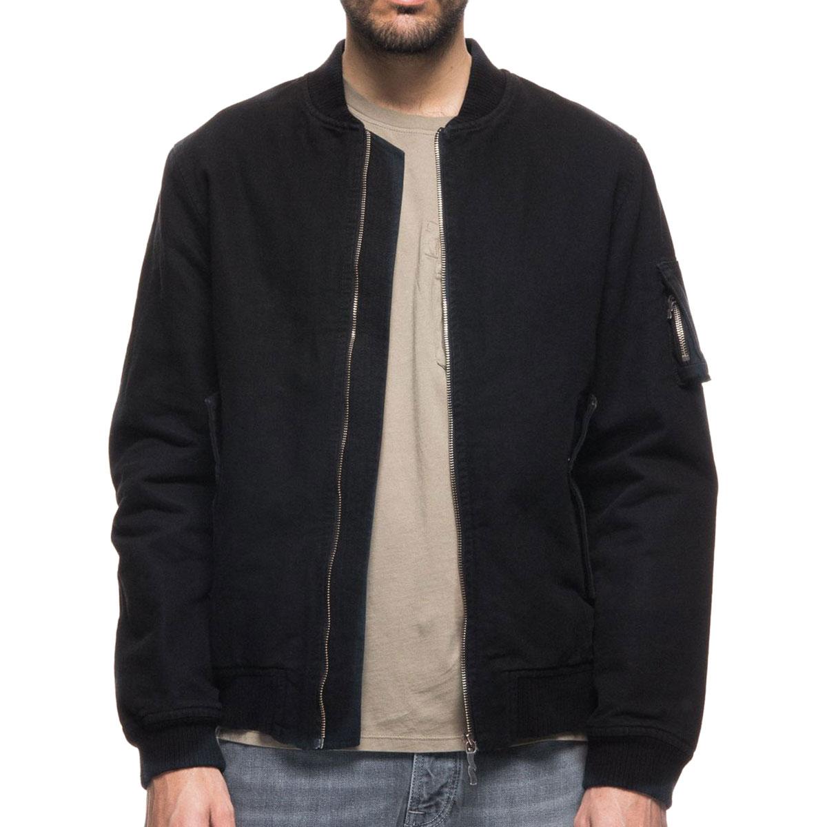 Nudie Jeans ジャケット MA-1 ALEXANDER BOMBER JACKET 160518 5011 BLACK