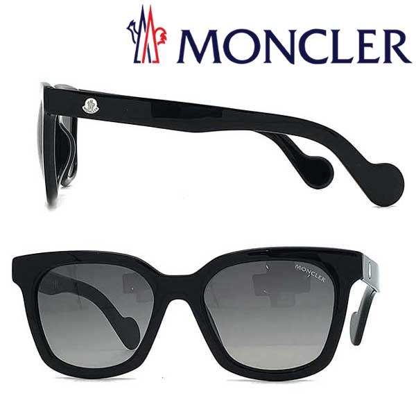 MONCLER サングラス UVカット モンクレール グラデーションブラック ML-0040-01A